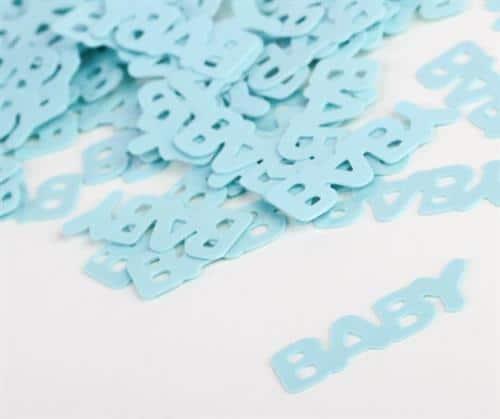 tafelconfetti baby blauw