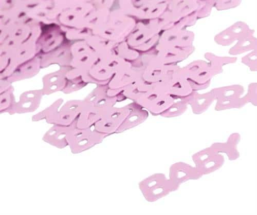 tafelconfetti baby roze