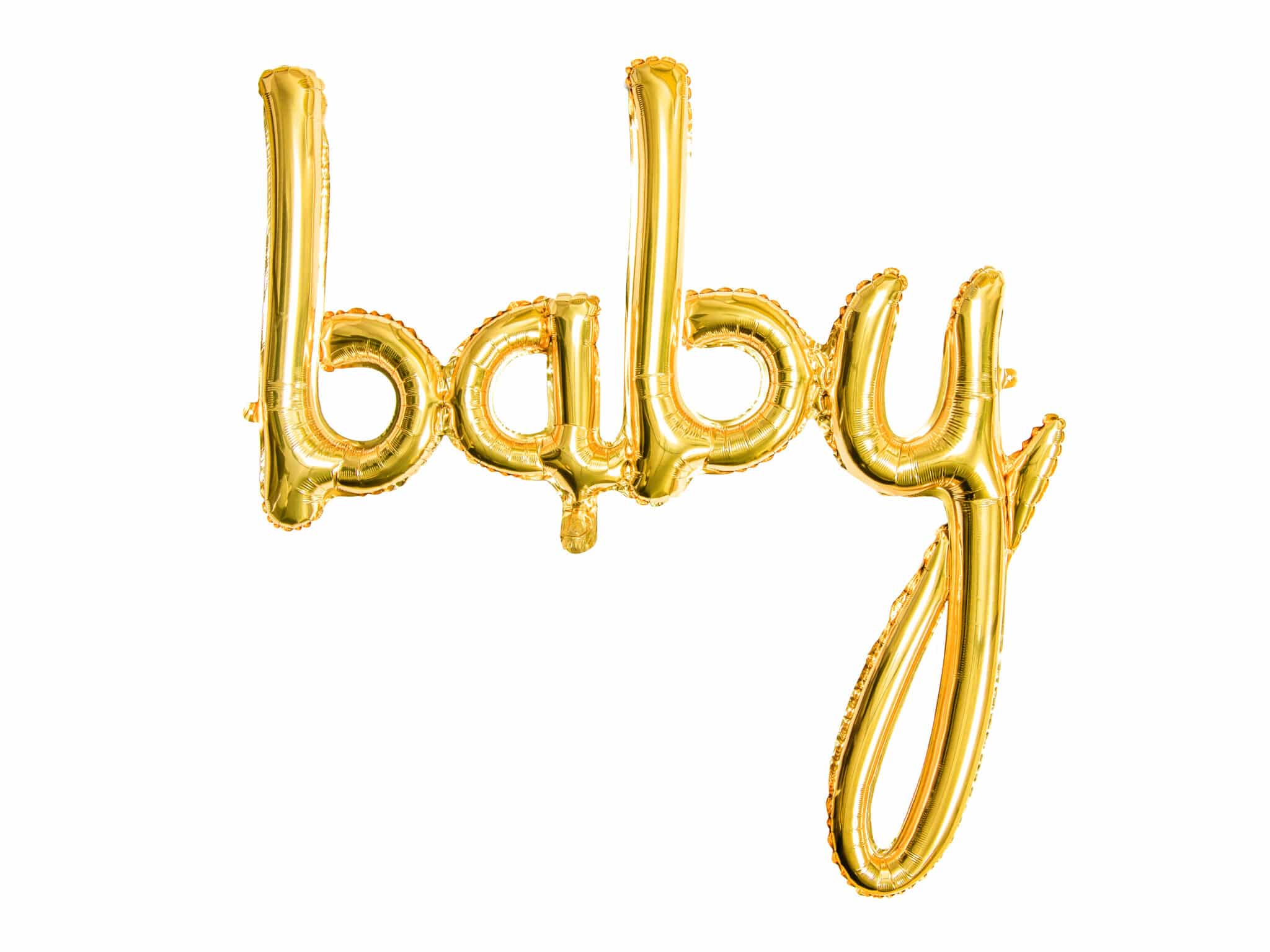 baby folie ballon goud