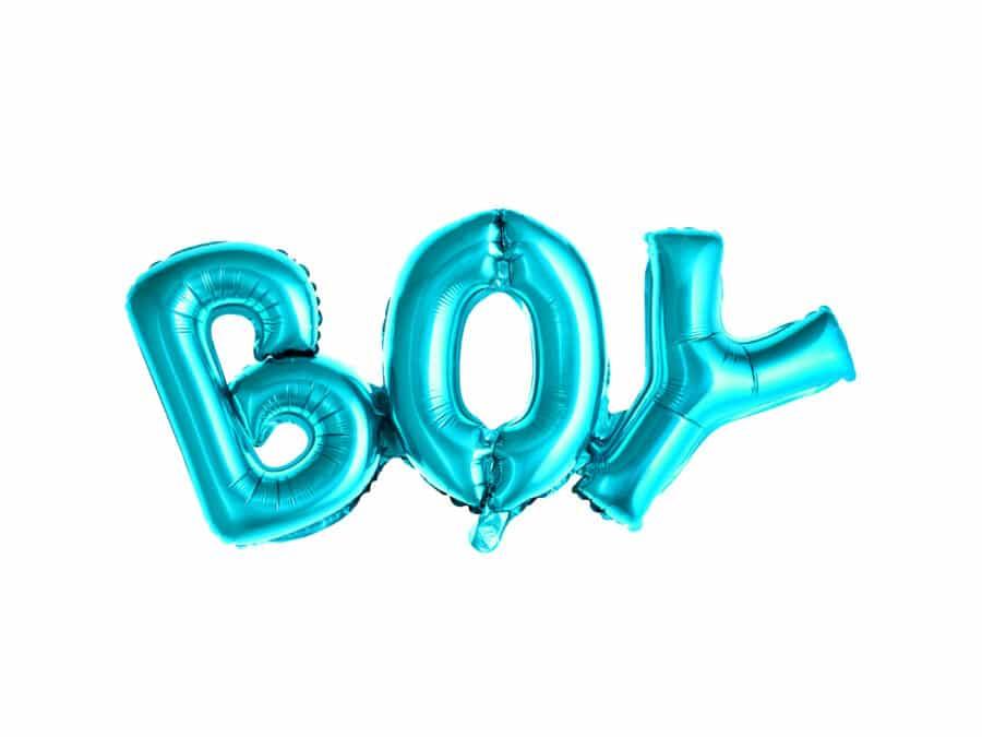 Folie ballon jongen