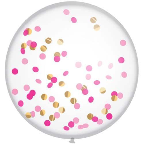 grote roze confetti ballon