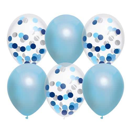 blauwe ballonnen mix