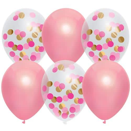 roze ballonnen mix