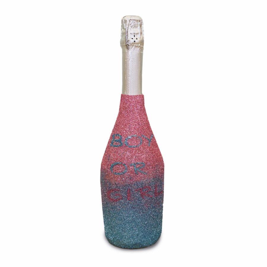 gender reveal champagne