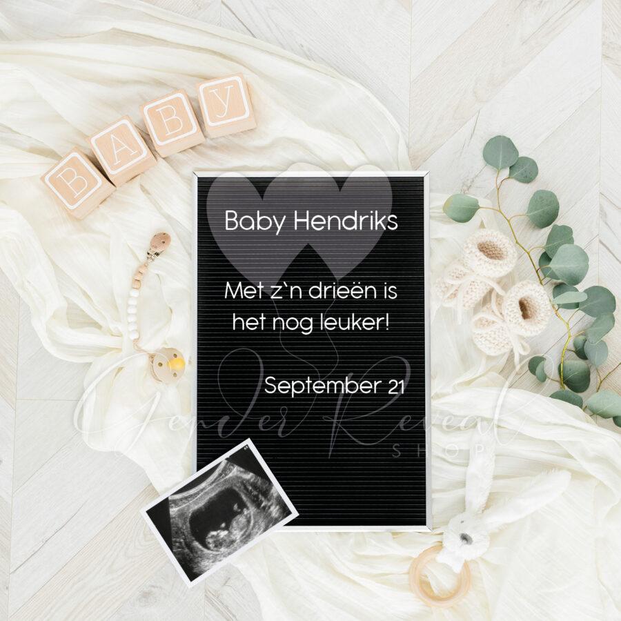 Zwangerschap aankondigen